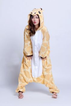 Animal Costume Giraffe Adult Onesie Kigurumi Pajamas - what katie hamlin is getting for christmas