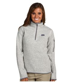 Patagonia Better Sweater™ 1/4 Zip Natural w/ Feather Grey - Zappos.com Free Shipping BOTH Ways