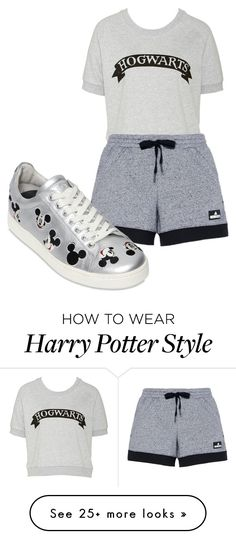 """miss Harry"" by sobersruth on Polyvore featuring adidas and Disney"