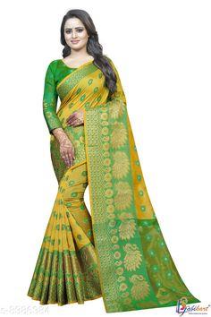 Sarees New stylish Woven Banarasi Silk Saree Saree Fabric: Banarasi Silk Blouse: Running Blouse Blouse Fabric: Cotton Silk Pattern: Zari Woven Multipack: Single Sizes:  Free Size (Saree with runing blouse length:6.3m)  Country of Origin: India Sizes Available: Free Size   Catalog Rating: ★4.1 (461)  Catalog Name: Adrika Pretty Sarees CatalogID_1408263 C74-SC1004 Code: 194-8386384-998