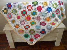 Gehaakte deken met Granny Squares