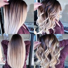 Are you going to balayage hair for the first time and know nothing about this technique? We've gathered everything you need to know about balayage, check! Cute Hair Colors, Cool Hair Color, Trendy Hair Colors, Fall Hair Colors, Hair Color Highlights, Hair Color Balayage, Ombre Balayage, Bright Highlights, Haircolor