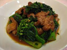 Chinese Broccoli Oyster Sauce Chicken (Gaai3 Laan4 Hou4 Jau4 Gai1, 芥蘭蠔油雞)