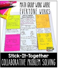 Collaborative Problem-Solving in Math - math group work where everyone works. Math word problems for every math skill from to grade. Problem Solving Activities, Math Activities, Math Games, Math Lesson Plans, Math Lessons, Math Classroom, Math Math, Math Fractions, Multiplication