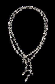 Sterling Silver link necklace with detachable pearls by Bowman Originals.