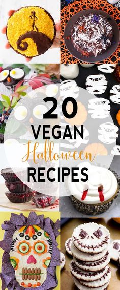 The Ultimate Roundup Of Vegan Halloween Recipes 20 Vegan Halloween Recipes Want Some Tasty And Fun Vegan Halloween Recipes I Got You Covered I 39 M Sharing My 20 Favorite Vegan Treats Via Vnutritionist Halloween Desserts, Postres Halloween, Recetas Halloween, Halloween Food For Party, Halloween Halloween, Vegan Halloween Recipe, Healthy Halloween Treats, Halloween Baking, Vegan Candies