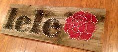 Custom made string art! Names, logos and symbols! on Etsy, $50.00