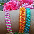 Du néon aux poignets, ou comment faire ses propres bracelets ? {DIY inside} - Mon quotidien Créatif