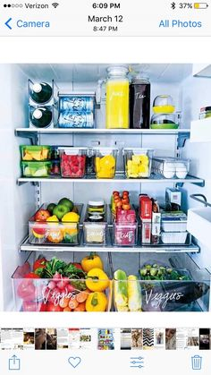 Pantry organization ideas that are budget friendly & Kitchen organization ideas for your small apartment & Kitchen pantry organization House decor & Kitchen decor ideas for the minimalist & Pantry. Refrigerator Organization, Pantry Organization, Organized Fridge, Fridge Storage, How To Organize Fridge, Kitchen Storage, Countertop Organization, Storage Containers, Home Remodeling Diy