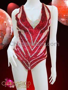 Charismatico Dancewear Store - CHARISMATICO Sexy Diva Showgirl Metallic Red and Iridescent White Sequined Leotard, $140.00 (http://www.charismatico-dancewear.com/charismatico-sexy-diva-showgirl-metallic-red-and-iridescent-white-sequined-leotard/)