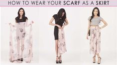 How To Wear A Scarf As A Skirt + 3 Styles