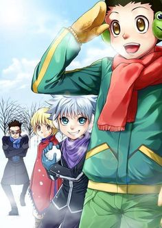 Leorio, Kurapika, Killua, and Gon <3         ~Hunter X Hunter
