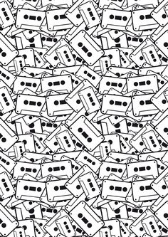 tape pattern black and white