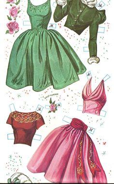 Vintage Uncut 1962 Prom Time Paper Doll Repro originalstørrelse 8 sider Tøj | eBay