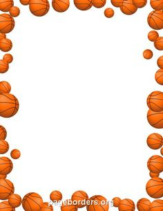 Printable Basketball Stationery And Writing Paper Free Pdf