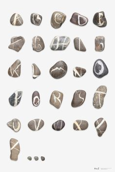 André Quirinus Zurbriggen has collected stones with markings that closely resemble every letter in the alphabet.