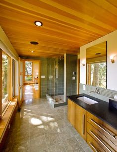 Modern Bathroom Master Bath Design, Pictures, Remodel, Decor and Ideas - page 5 Modern Bathroom Design, Bath Design, Bathroom Interior Design, Bathroom Designs, Modern Bathrooms, Custom Builders, Home Builders, Cabin Style Homes, Cozy Bathroom