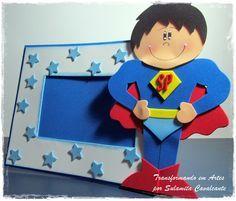lembrancinha dia dos pais porta retrato super homem EVA escola artesanato 1