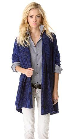 Tess Giberson Split Mohair Cardigan - Price $525.00 | shop Tess Giberson cardigans