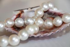Ladies White South Sea Graduated Pearl Necklace, containing twenty nine South Sea pearls 12-14mm with a 14kw gold clasp. John Ford Jewelers #galveston