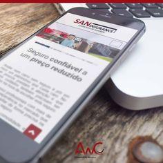 Desenvolvimento de site para o cliente: Corretora San Insurance