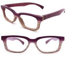 Paris Autumn handmade purple wood eyeglasses