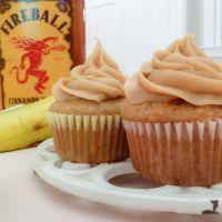 Banana +  fireball cupcakes