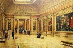 Louis Béroud, Salle Rubens du Musée du Louvre, 1904, Musée du Louvre, prêt illimité du musée de San Fransisco