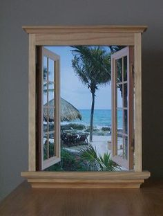 A fake window....so need this for my cubicle!