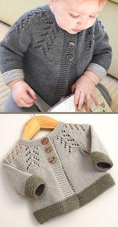 Baby Cardigan Sweater Strickmuster - In the Loop Stricken - baby sweater knitt. - Baby Cardigan Sweater Strickmuster – In the Loop Stricken – baby sweater knitting patterns – # - Baby Cardigan Knitting Pattern Free, Beginner Knitting Patterns, Knitted Baby Cardigan, Knit Baby Sweaters, Baby Pullover, Knitting For Kids, Knitting For Beginners, Easy Knitting, Start Knitting