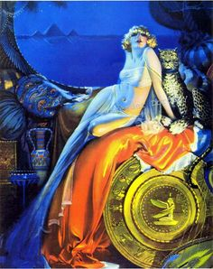 """Cleopatra By the great american art deco artist Rolf Armstrong """" Rolf Armstrong, Pinup Art, Art And Illustration, Illustrations, Art Deco Paintings, Art Deco Artists, Pin Up Vintage, Art Vintage, Pinturas Art Deco"""