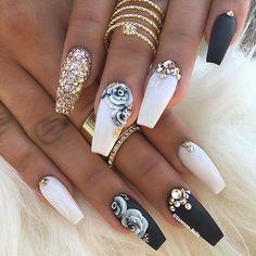 By @vanessa_nailz #makeup #nail #nails #nail #nailart #nails #nailtech #naildesigns #nailswag #manicure