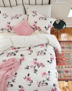 Dhalia floral Dhalia Floral Stripe Duvet Cover  ab3942c9e0bf6