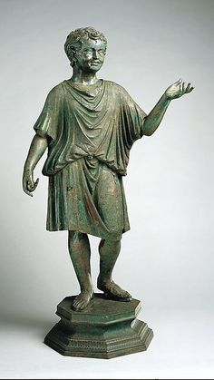 Bronze statue of a camillus (acolyte) | Roman | Early Imperial, Julio-Claudian | The Met
