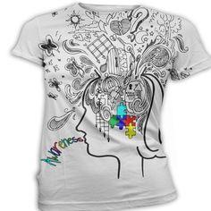 Autism Awareness T-Shirt, Printed Graphic Top, Custom T-Shirt, Personalized Shirt, V-neck, Scoop Neck, Crew Neck, Ladies, Mens, Plus Sizes