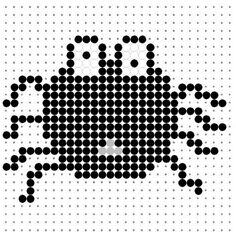 Black Spider Perler Bead Pattern