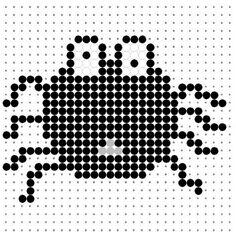 Black Spider Perler Bead Pattern
