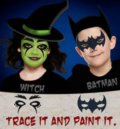 Halloween face painting designs for kids