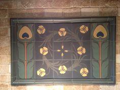 Van Briggle Art Pottery tile hearth