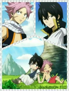 Natsu and Zeref . The sibling team of FT Fairy Tail Natsu And Lucy, Fairy Tail Nalu, Fairy Tail Ships, Fairy Tail Photos, Fairy Tail Images, Zeref Dragneel, Fairytail, Anime Siblings, Fairy Tail Family