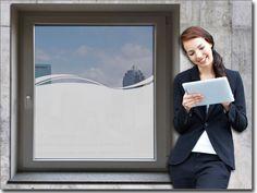 Moderner Sichtschutz,   Maßgefertigtes Glastattoo