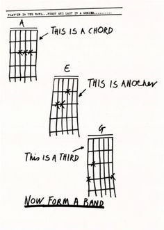 This is a chord. This is another. This is a third. NOW FORM A BAND.