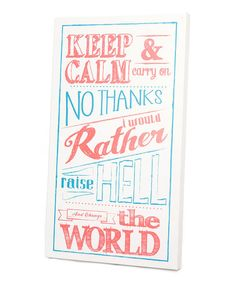 Take a look at this Blue & Pink 'Change the World' Wall Art by Twelve Timbers on #zulily today!
