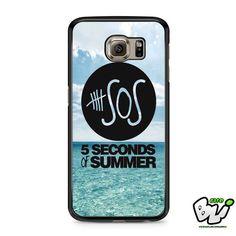 5 Second Of Summer Ocean Logo Samsung Galaxy S7 Edge Case