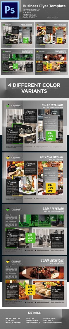 #Corporate #Business #Flyer #Template - Flyers Print #Design. Download here: https://graphicriver.net/item/business-flyer-template/19543689?ref=yinkira