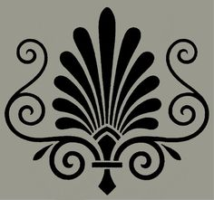 STENCIL Victorian Ornament No 68 10x9 by ArtisticStencils on Etsy