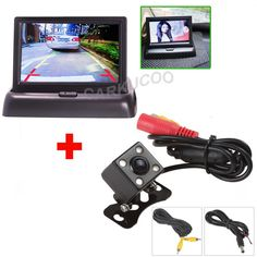 Auto Parking Assist System 2 in 1 Car Rear View Camera With Monitor,Night Vision Car Parking Camera With Monitor For Security