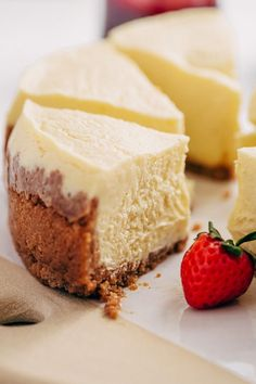 Learn how to make instant pot cheesecake. This New York-Style cheesecake has a graham cracker crust and is made almost entirely in a pressure cooker.