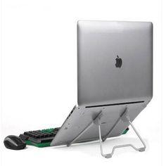 QWERTU Laptop Lifting Bracket Notebook Cooling Bracket Tablet Base Increased Desktop Aluminum Alloy Space Saving Ergonomic Tray