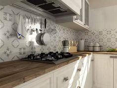 my future kitchen! Kitchen Tiles, Kitchen Dining, Kitchen Cabinets, Kitchen, Home, Interior, Kitchen Design, White Bathroom, Home Decor